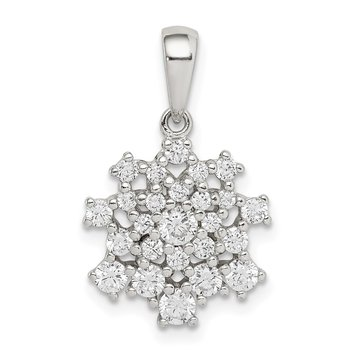 Sterling Silver Fancy CZ Pendant