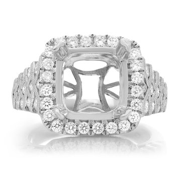 Intricate White Gold Engagement Setting