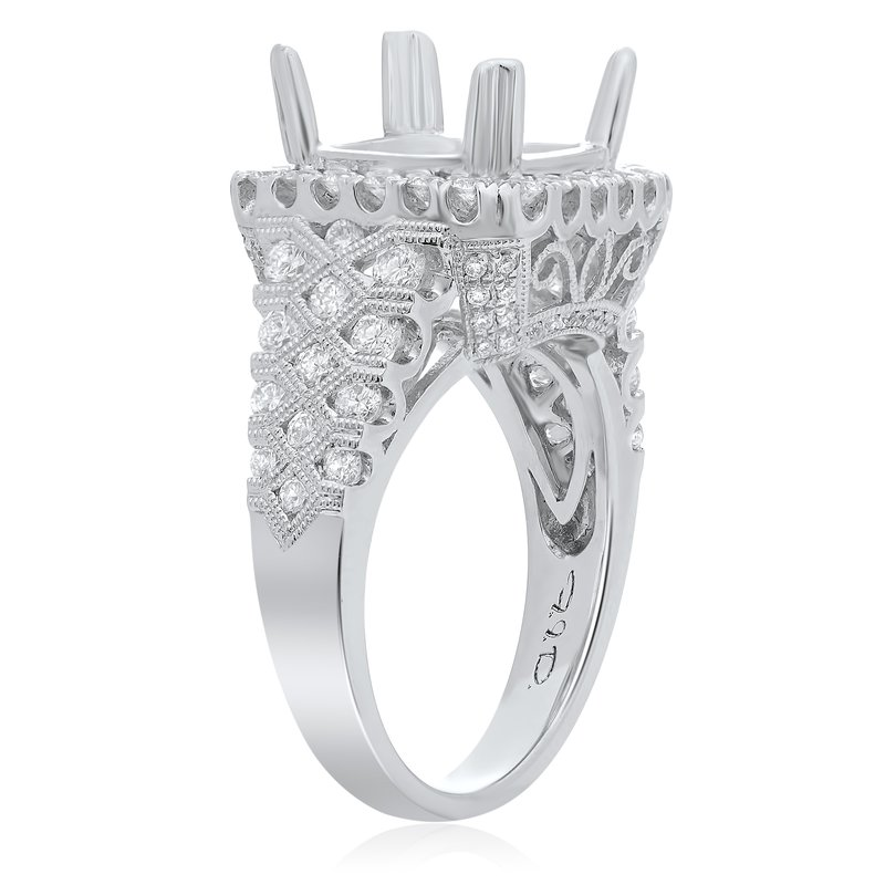 Roman & Jules Intricate White Gold Engagement Setting