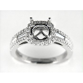 14K W RING 56RD 0.41CT 2TAP 0.11CT