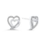 Essentials 10K White Gold 1/5 Ct Diamond Fashion Earrings