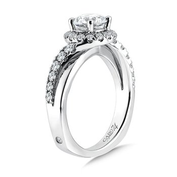 Diamond Halo Engagement Ring in 14K White Gold with Platinum Head (1ct. tw.)