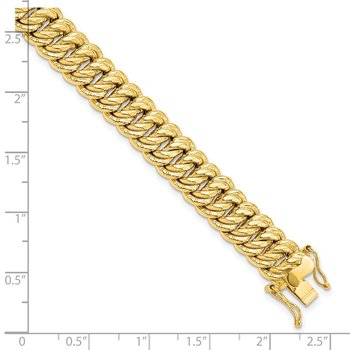 Leslie's 14k Polished Fancy Link Bracelet