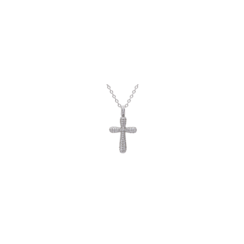 Diamond Cross Pendant with Chain