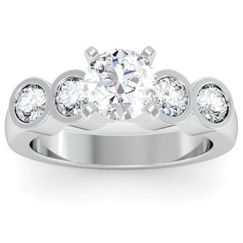 Round Diamond Bezel Engagement Ring