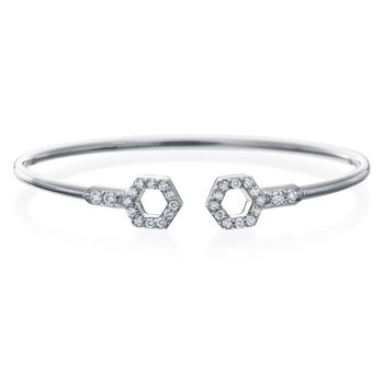 "Honeybee ""B"" Diamond Pavé Flexible Bangle B319G"