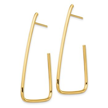 14k 1.5mm Polished Triangle Post Dangle Earrings