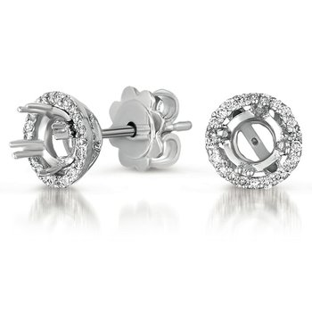 Four Prong Earring Setting for .30ct TW