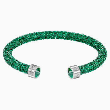 Crystaldust Cuff, Green, Stainless steel