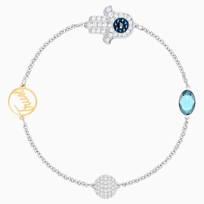 Swarovski Swarovski Remix Collection Hamsa Hand Strand, Blue, Mixed metal finish