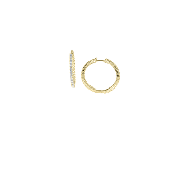 18KT YELLOW GOLD PERFECT DIAMOND HOOP