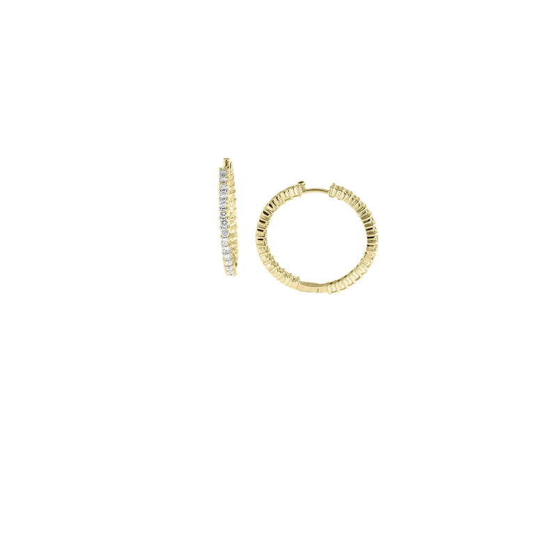 Roberto Coin 18Kt Yellow Gold Perfect Diamond Hoop