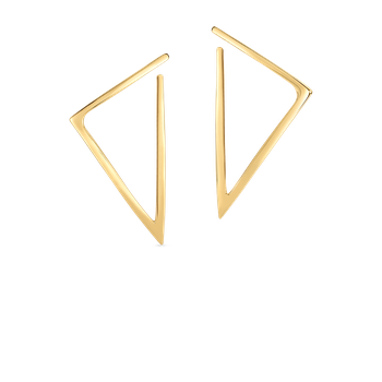 18KT GOLD TRIANGLE EARRINGS