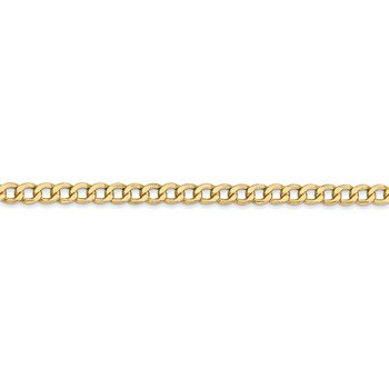 Leslie's 14k 3.35mm Semi-Solid Curb Link Chain