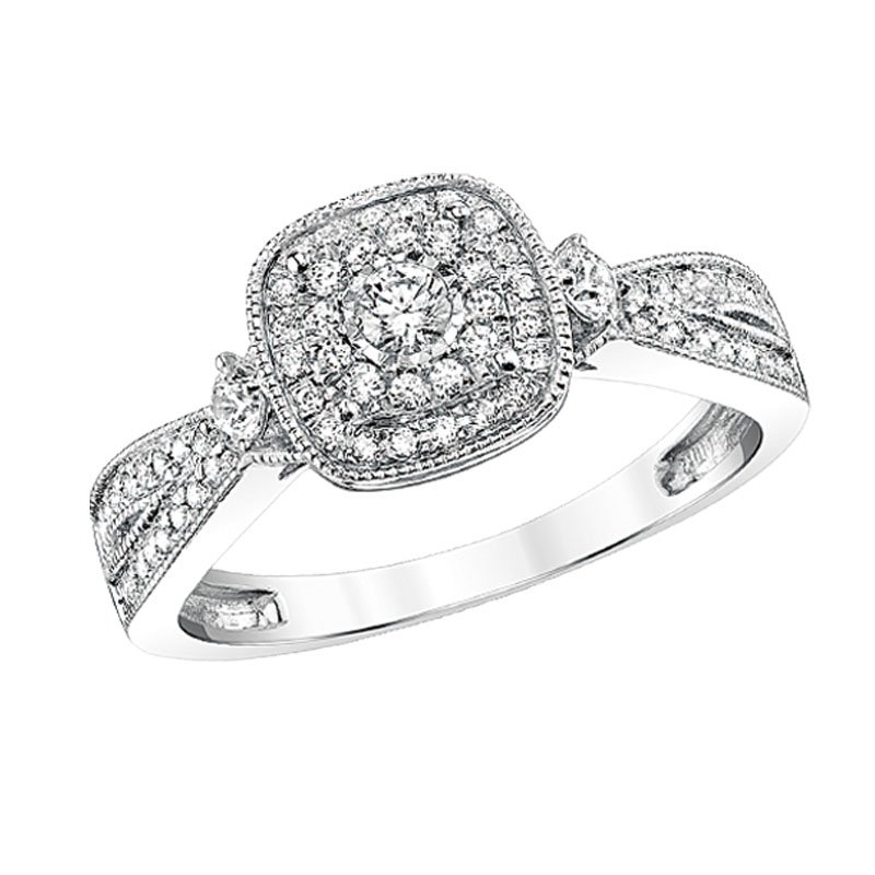 Simmons & Clark Two Hearts Collection Engagement Ring