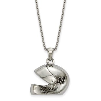 Stainless Steel 11 Denny Hamblin NASCAR Necklace