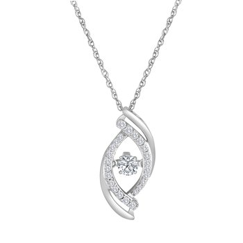 14KW 3/8CTW HEARTBEAT COLLECTION PENDANT