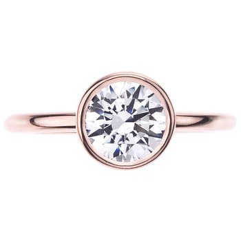 Rose Gold Bezel Set Solitaire Engagement Ring