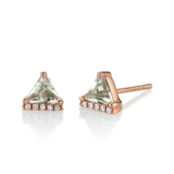 MARS 27292 Stud Earrings, 0.04 Dia, 0.67 Green Am.
