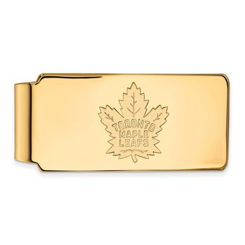 Gold-Plated Sterling Silver Toronto Maple Leafs NHL Money Clip