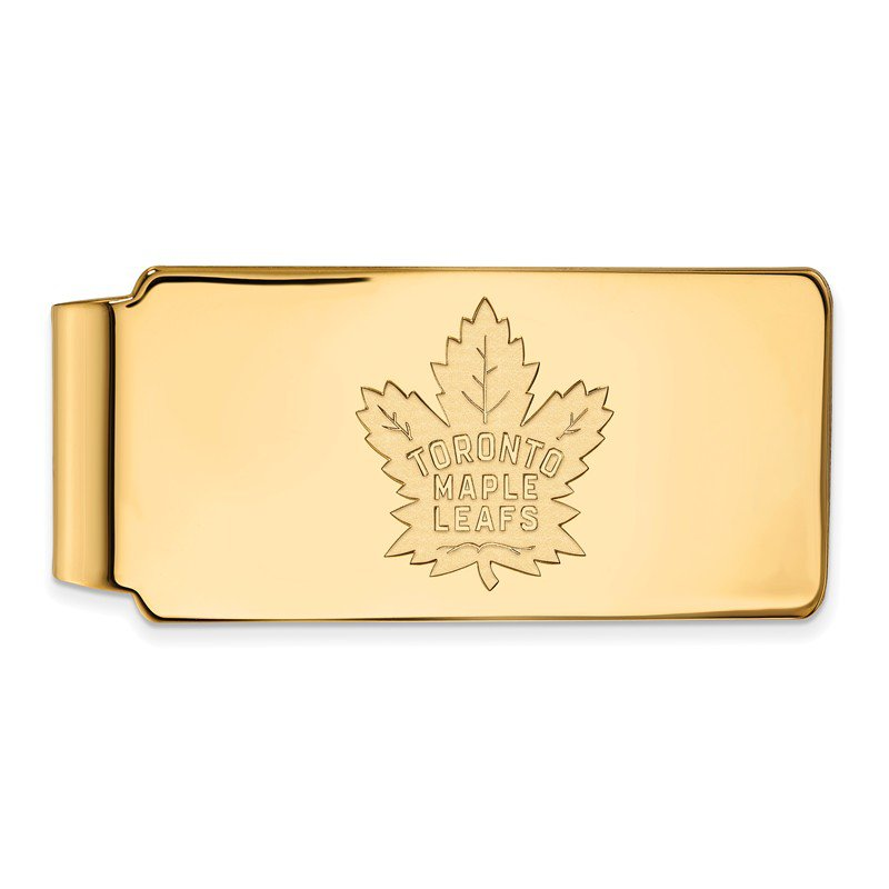 NHL Gold-Plated Sterling Silver Toronto Maple Leafs NHL Money Clip