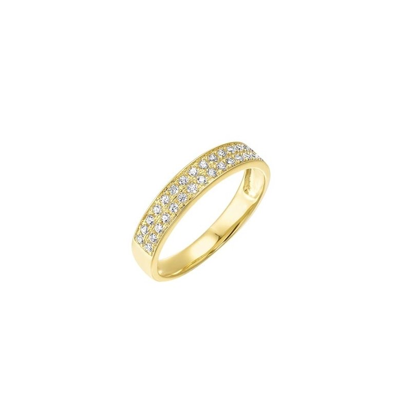 Gems One Diamond Double Row Stackable Ring in 14k Yellow Gold (1/4ctw)