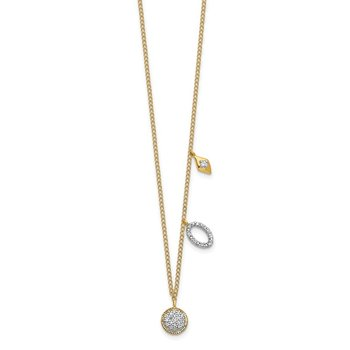 14k Diamond Circles 18 inch Necklace