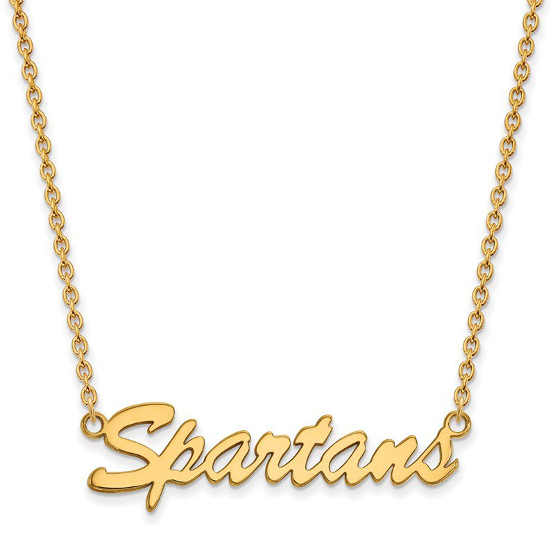 NCAA Gold-Plated Sterling Silver Michigan State University NCAA Necklace