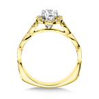Valina Halo Engagement Ring Mounting in 14K Yellow Gold (.17 ct. tw.)