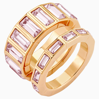 Fluid Stacking Ring, Violet, Rose-gold tone plated