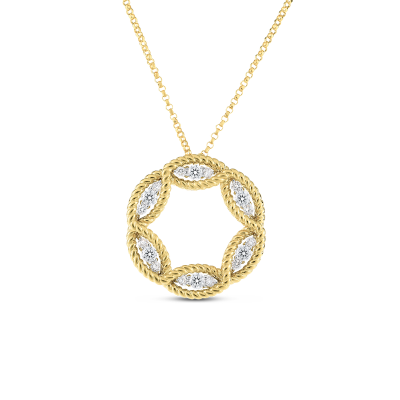 Roberto Coin Large Diamond Circle Necklace
