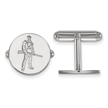 Sterling Silver West Virginia University NCAA Cuff Links