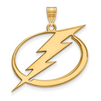 Gold-Plated Sterling Silver Tampa Bay Lightning NHL Pendant
