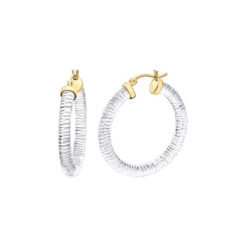 LARUS Jewelry Lucite Hoops 25mm