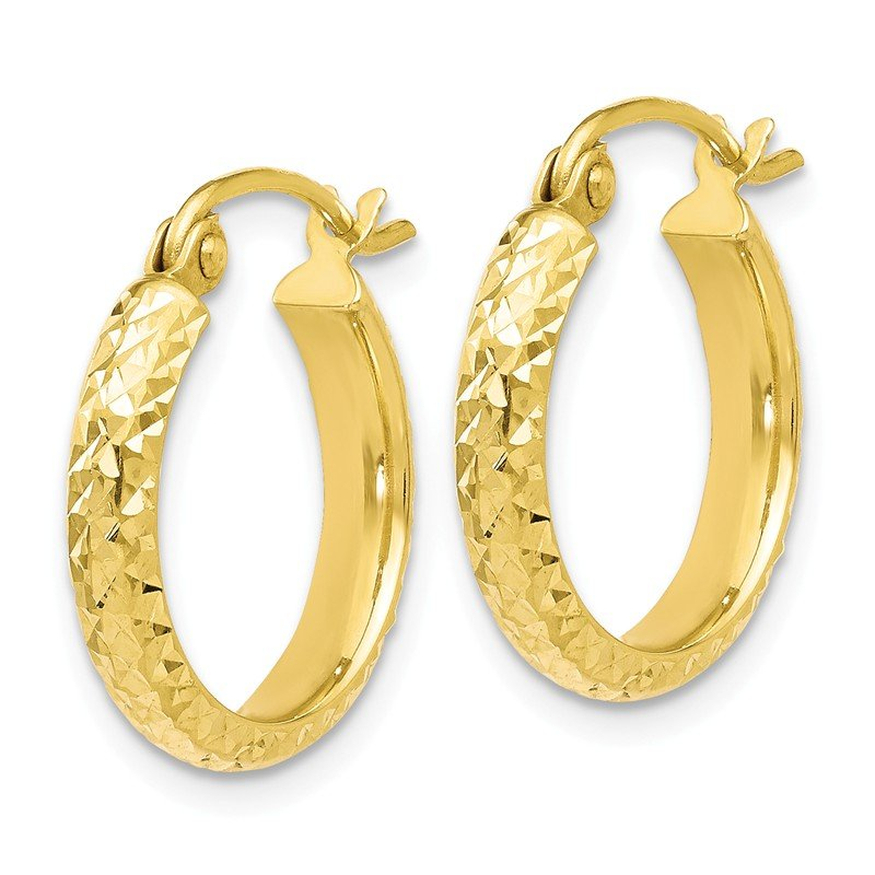 Leslie's Leslie's 10K D/C Hinged Hoop Earrings