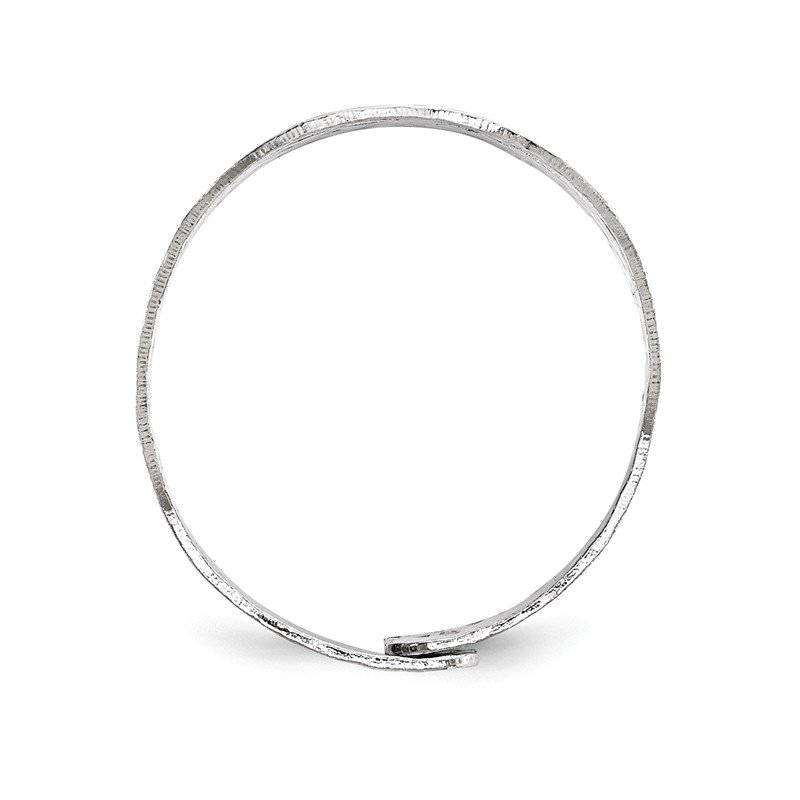 Leslie's Leslie's Sterling Silver Rhodium-Plated Adjustable Ring