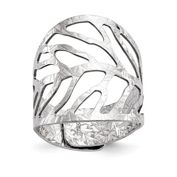 Leslie's Sterling Silver Rhodium-Plated Adjustable Ring