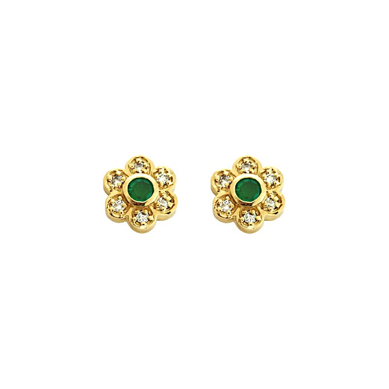S. Kashi  & Sons Emd./  Dia Earrings