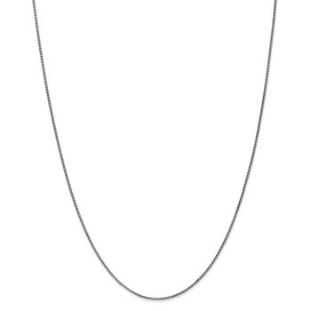 Leslie's 14K White Gold 1.2mm Solid D/C Spiga Chain