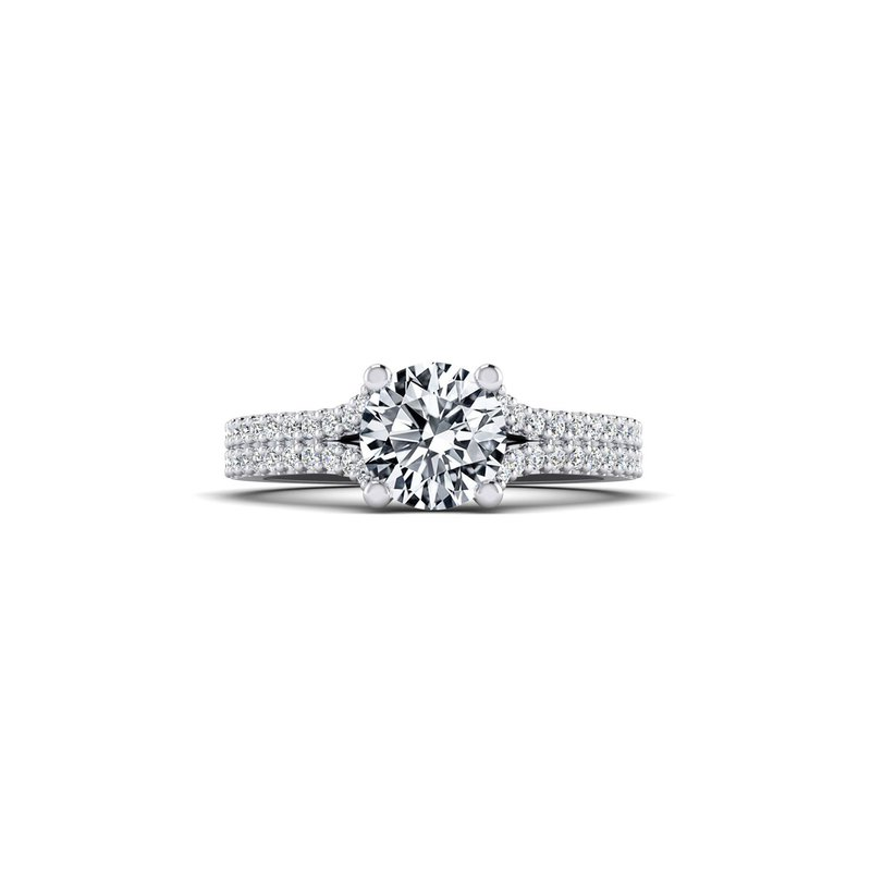 Toodie's Bridal Double Row Split Shank Design Diamond Engagement Ring