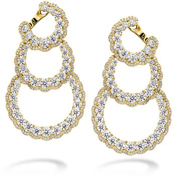 Aurora Triple Tier Hoop Earrings