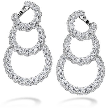 13.84 ctw. Aurora Triple Tier Hoop Earrings