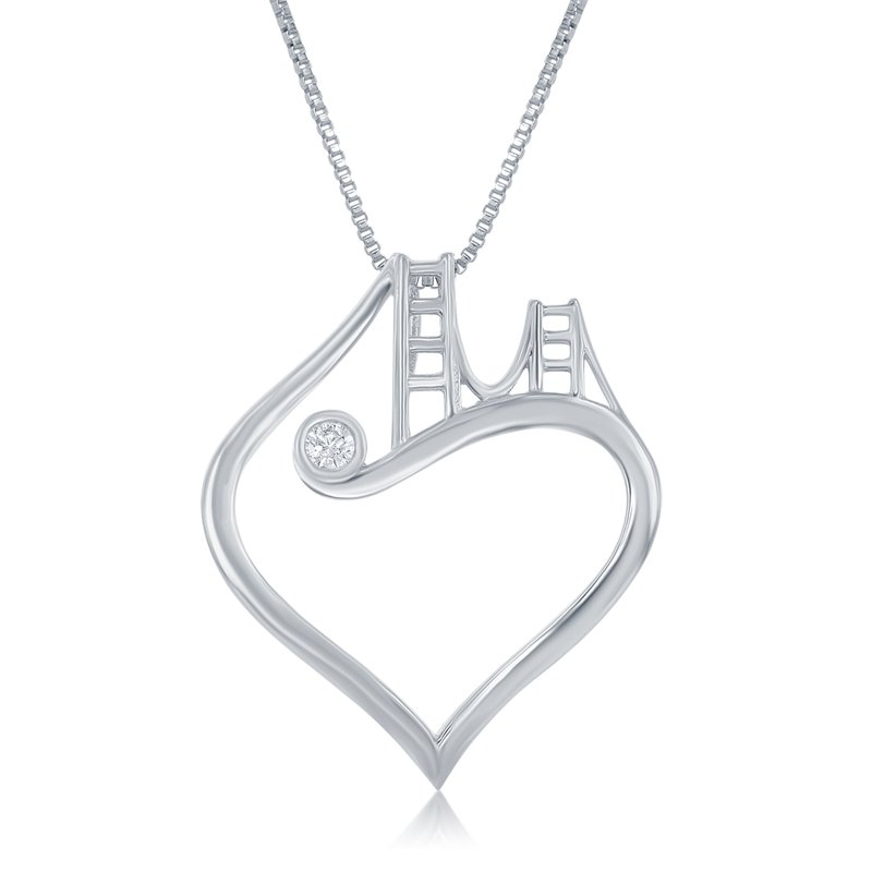Veer WS - Golden Gate Bridge to Her Heart Necklace