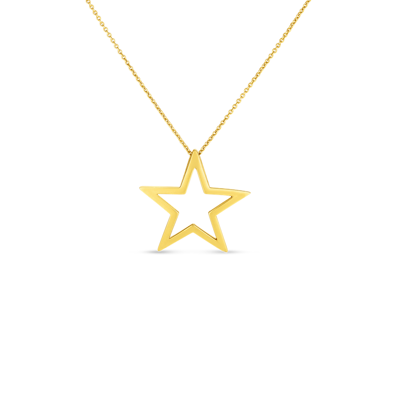 Roberto Coin 18Kt Gold Open Gold Star Pendant