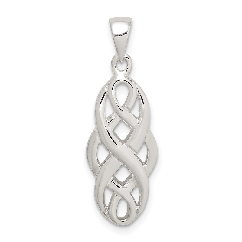 Quality Gold Sterling Silver Polished Celtic Pendant