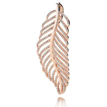 Light As A Feather Pendant, PANDORA Rose™ & CZ