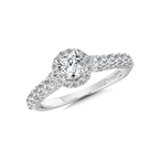 Valina Halo Engagement Ring Mounting in 14K White Gold (.65 ct. tw.)