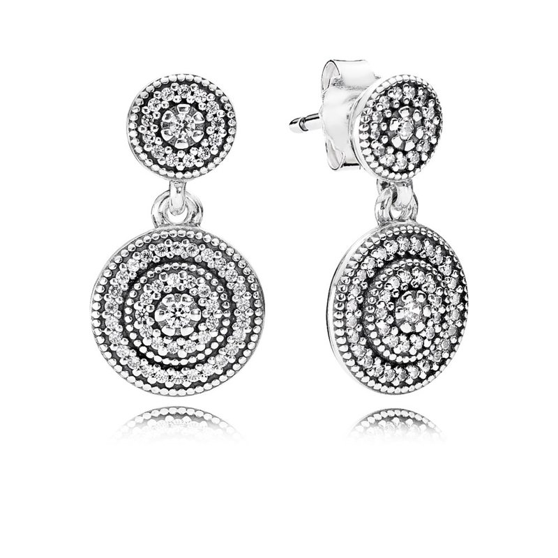 8ae37e95b PANDORA Radiant Elegance Drop Earrings, Clear CZ. Stock # 290688CZ