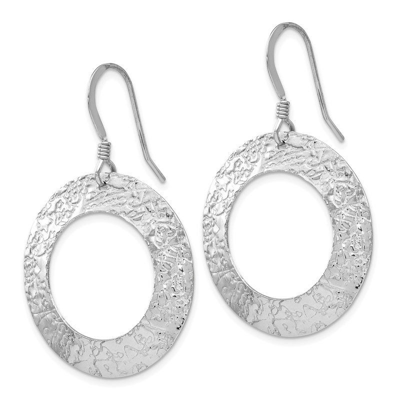 Leslie's Leslie's Sterling Silver Textured Shepherd Hook Dangle Earrings
