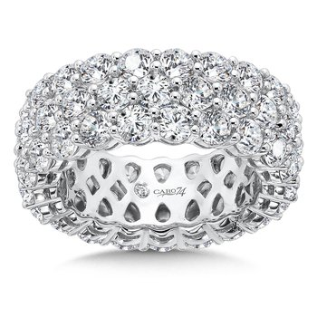 CARO 74 Eternity Band  in 14K White Gold (Size 6.0)